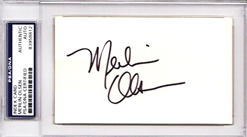 Merlin Olsen Autographed Signed Los Angeles Rams 3x5 inch Index Card - College and Pro Hall of Fame - Deceased 2010 - PSA/DNA Authenticity (COA) - PSA Slabbed Holder - Merlin Olsen Autographed Rams