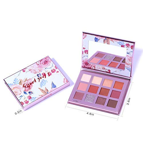 Serseul Eyeshadow Palette Matte Shimmer for Everyday Highly Pigmented Eye Makeup Nude Shades Natural and Burgundy Cruelty Free