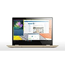 "Lenovo Yoga 520-14IKB - Portátil convertible de 14"" HD (Intel Core i3-7100U, RAM de 8 GB DDR4, HDD de 1 TB, Intel HD Graphics 620, Windows 10 Home 64 bit) dorado metal - teclado QWERTY Español"