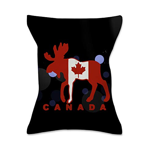 - XREE Car Tissue Box Home Tissue Holder Canvas Cloth Art Container for Paper Tissue Packs - Moose Maple Leaf Canada