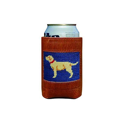 (Yellow Lab Needlepoint Can Holder by Smathers & Branson)