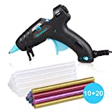 Upgraded Blusmart Hot Glue Gun, 20W High Temperature, 20pcs Glue Sticks and 10 Colors Sticks , Ideal for Quick Repairs, DIY Projects & Arts(New Style)