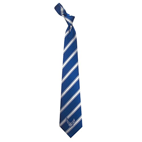 Woven Poly Mens Tie (Eagles Wings Men's Finely Crafted Military Themed Neckties - Air Force Woven Poly)