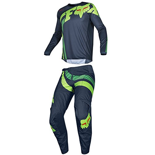 (Fox Racing 2019 180 COTA Jersey and Pants Combo Offroad Gear Set Adult Mens Navy Large Jersey/Pants 34W)