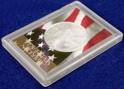 Harris 2×3 American Flag Holder- SILVER EAGLES