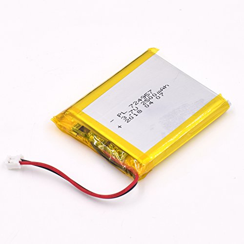 YDL 3.7V 2500mAh 724957 Lipo battery Rechargeable Lithium Polymer ion Battery Pack with JST Connector