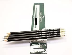 Faber-Castell Blacklead lápices (caja de 12) color: 2B: Amazon.es ...