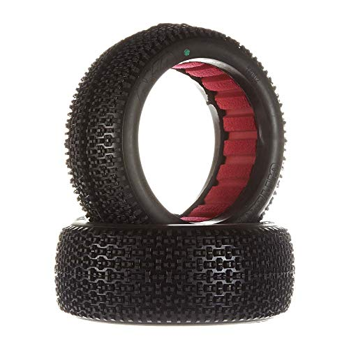 AKA Racing 14002SR 1:8 Buggy City Block Soft Tire with Red Insert ()