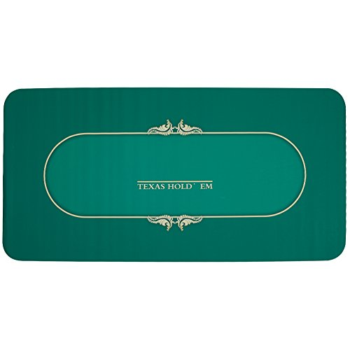 Gameland Professional Rubber Foam Poker Table Top Layout Rectangular Poker Mat by GAMELAND