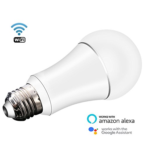jinvoo wi fi smart led light bulb dimmable multicolored color 6w e27 no hub required. Black Bedroom Furniture Sets. Home Design Ideas