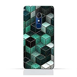 AMC Design Alcatel 3C/ 3C Dual/ 5026D TPU Silicone Protective Case with Cubes Design