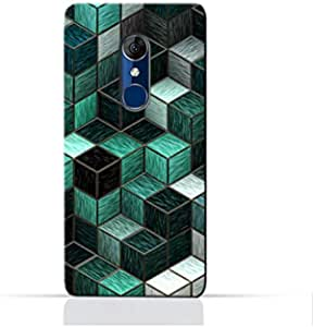 AMC Design Alcatel 3 5020D 5052Y TPU Silicone Protective Case with Cubes Design