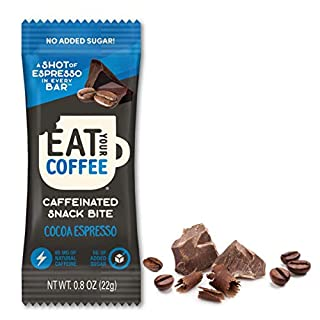 Caffeinated Coffee Bites, Eat Your Coffee Energy Bar | Cocoa Espresso | Tasty Caffeinated and Natural Snack | Ethically Sourced, Stay Energized, Coffee Bar