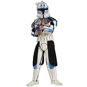 Star Wars Clone Wars Clone Trooper Child's Deluxe Captain Rex Costume - 41lilmr9KrL - Star Wars Clone Wars Clone Trooper Child's Deluxe Captain Rex Costume