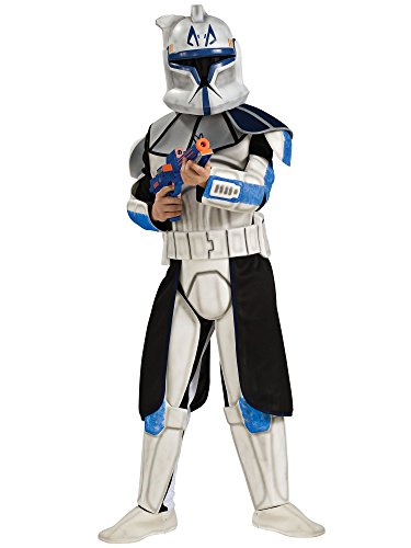 Rubies Star Wars Clone Wars Child's Clone Trooper Deluxe Captain Rex Costume, Medium]()