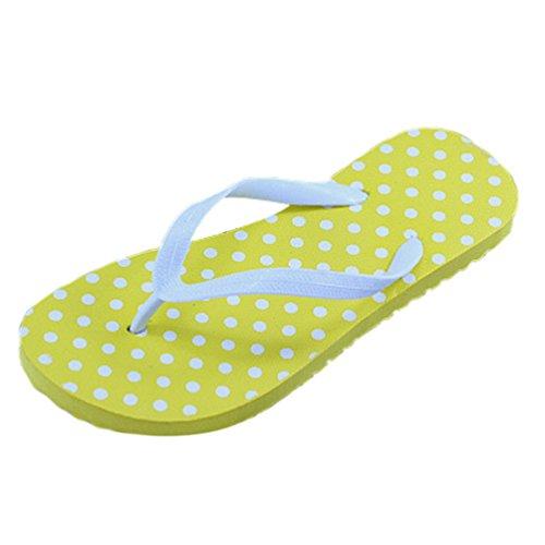 Heheja Sandalias para Mujer Verano Unisex Adulto Chanclas Zapatillas de Playa Amarillo1