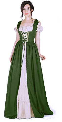 Peasant Lady Adult Costumes - Boho Set Medieval Irish Costume Chemise