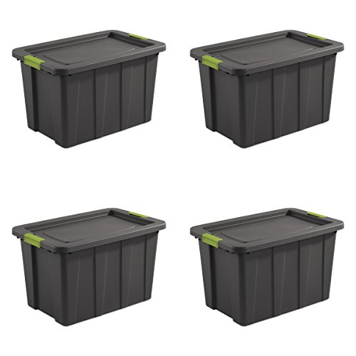 Sterilite 15273V04 30 gallon/114 L Latching Tuff1 Tote (4 Pack) ()