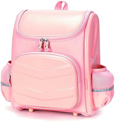 女の子のバックパック小学生の負担軽減リッジ多層のスペースデザインのバックパック(ピンク) (色 : A)