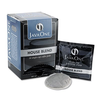 Java One Coffee Pods, House Blend, Single Cup, (14 Single Serve Coffee Pods)