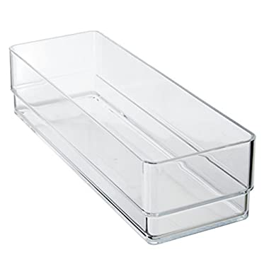 Break-Resistant Plastic Drawer Organizers 9  x 3  x 2  l Set of 6