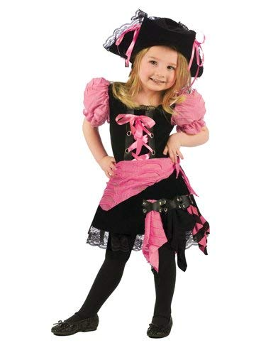 Fun World Punk Pirate Toddler Costume, Large 3T-4T, Multicolor