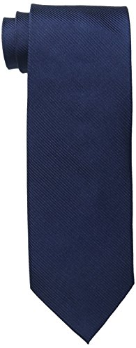 Bruno Piattelli Men's Tall Plus Size Extra Long Solid Silk Tie, Navy, One