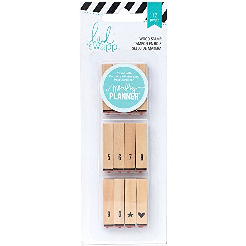 Brand New Heidi Swapp Hello Beautiful Wood Mounted Stamps-Calendar Numbers Brand New