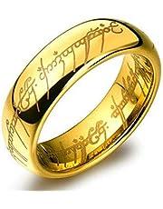 خاتم لورد اوف ذا رنج للجنسين مطلي بالذهب عيار 24 مع كيس رائع