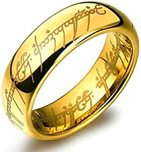 The Lord of the Ring ring is 24k gold plated with a gorgeous bag