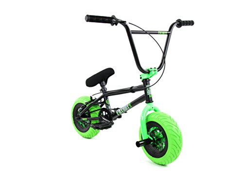 FatBoy Mini BMX Bicycle, Matte Black, Neon, Green
