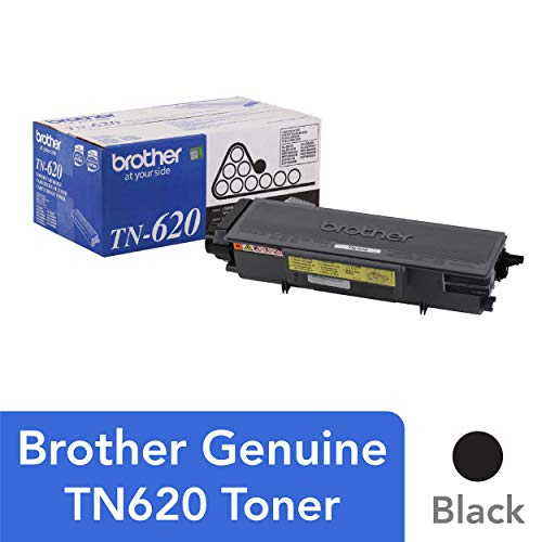 Brother Genuine Standard Yield Toner Cartridge, TN620, Replacement Black Toner, Page Yield Up To 3,000 Pages