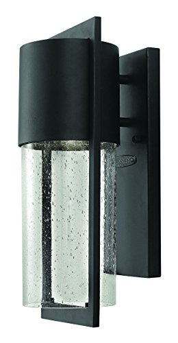 - Hinkley 1320BK Transitional One Light Wall Mount from Shelter collection in Blackfinish,