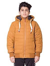 Boys Kids Cheetah Badge Side Ribbed Padded Jacket
