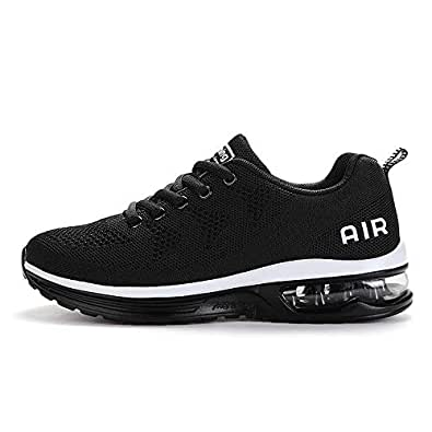Axcone Tennis Shoes for Mens Running Breathable Sneakers Casual Walking Athletic Road Sports Jogging a35bk40 Black