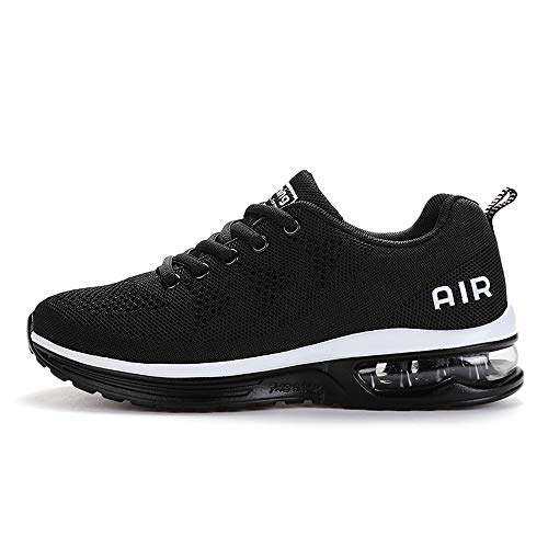 Axcone Tennis Shoes for Mens Running Breathable Sneakers Casual Walking Athletic Road Sports Jogging a35bk42 Black