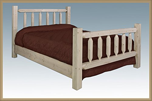 Black Forest Decor Homestead Queen Log Bed - Unfinished (Bed Unfinished Queen)