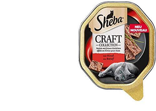 Sheba Craft feine Pastete mit Rind | 22 x 85g Katzenfutter nass