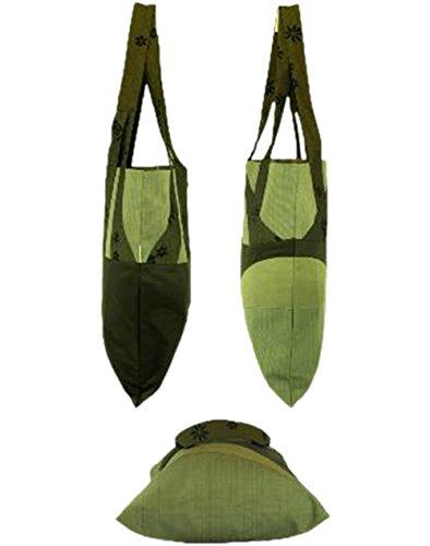 Textil Schultertasche Handtasche Einkauftasche Grün