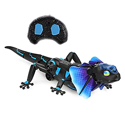 SOWOFA RC Animals Remote Controls Infrared Sensing Lizard Realistic Toy Moving Walking Color Change w/ Sound Lighting Electric Pet Joke Toys (Lizard): Toys & Games