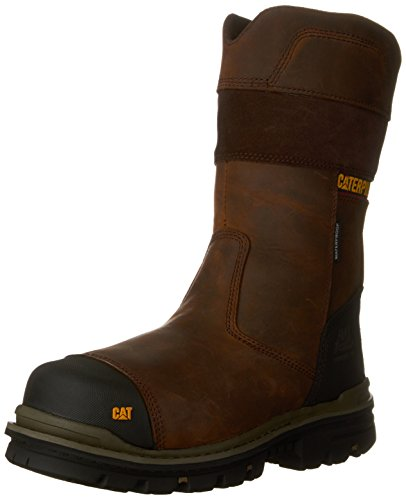 4423d460e95 Caterpillar Footwear Men's BOLTED CT CSA Work Pull-On Boot, Dark Brown, 7