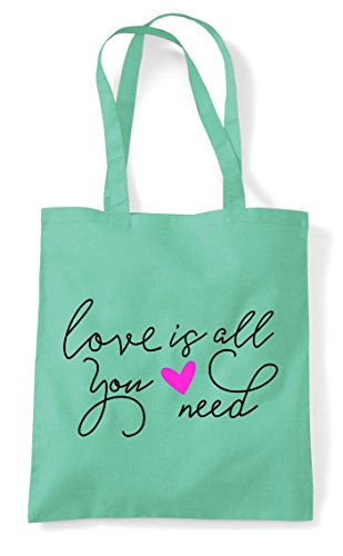 Need Tote Statement All Mint Shopper You Is Bag Love U1tqn