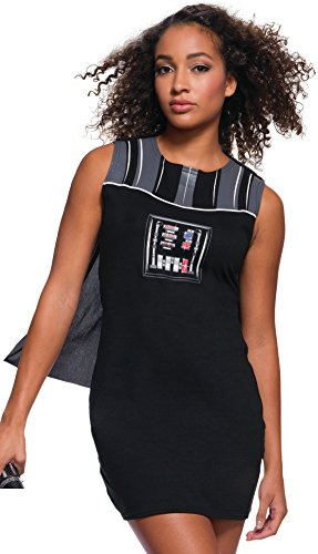 Women's Star Wars Darth Vader Rhinestone Tank Dress Costume Large 14-16 Black