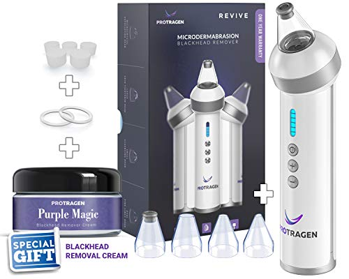 Advanced Revive Comedo Suction Blackhead Removal Device Rechargeable Skin Clearing Device - Non Abrasive - By ProTragen (Best Way To Close Pores)