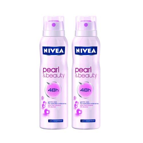 Nivea For Women Pearl Beauty Deodorant (Pack Of 2) 150 Ml