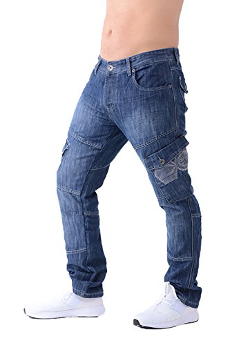 Wash para vaqueros Crosshatch tipo Stone cargo Pantalones hombre Combat q84znw
