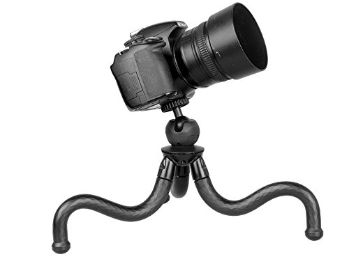 CPG FLEX lightweight Tabletop Tripod with Bendable Legs, Use This Mini Flexible Tripod with Compact Cameras, Mirrorless Cameras and Small DSLR's
