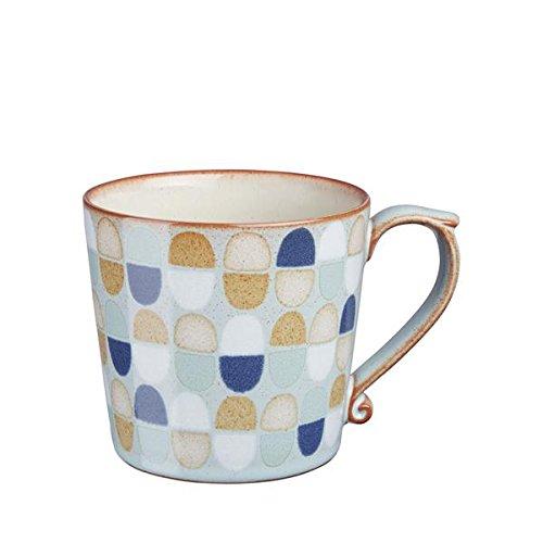(Denby Accent Mug, Large, Pavilion Blue, Set of 4)