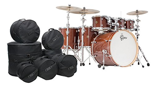 Gretsch-Catalina-Maple-7-Piece-Drum-Kit-wFree-Padded-Bags-Walnut-Glaze