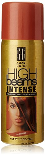 high beams Intense Temporary Spray on Hair Color, Copper, 2.7 -